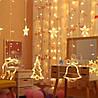 Гирлянда штора с украшениями и звездами, 138 LED, 4,8 м, фото 7