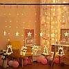 Гирлянда штора с украшениями и звездами, 138 LED, 4,8 м, фото 9