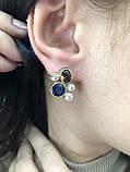 Комплект серебряных украшений Стоун синий-раух от Ирида-В, фото 3