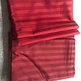 Постельное белье Сатин-страйп 1*1 Бордо, фото 2
