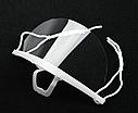 Маска пластиковая медицинская, многоразовая, 14 х 10 см, 10 штук, прозрачная + Подарок, фото 2
