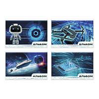 Альбом для рисования «В мире технологий», скоба, А4, 20 л., 80 г/м2