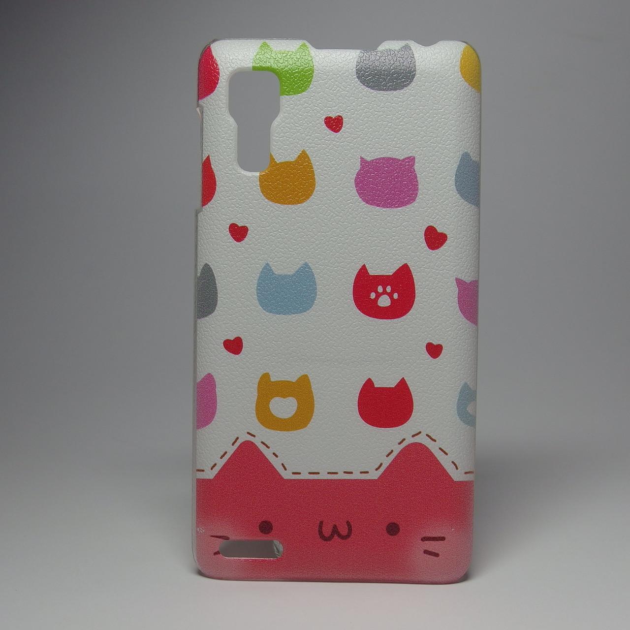 Чехол для lenovo p780 панель накладка с рисунком котики