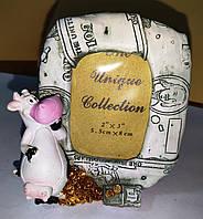 Рамки для фотографий с быком (коровой) - символ Нового года