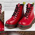 Стильные красивые удобные женские ботинки красные Женские ботинки на шнуровке зима Loretta размер 36 - 41, фото 2