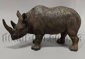 Керамический Носорог 13х23см