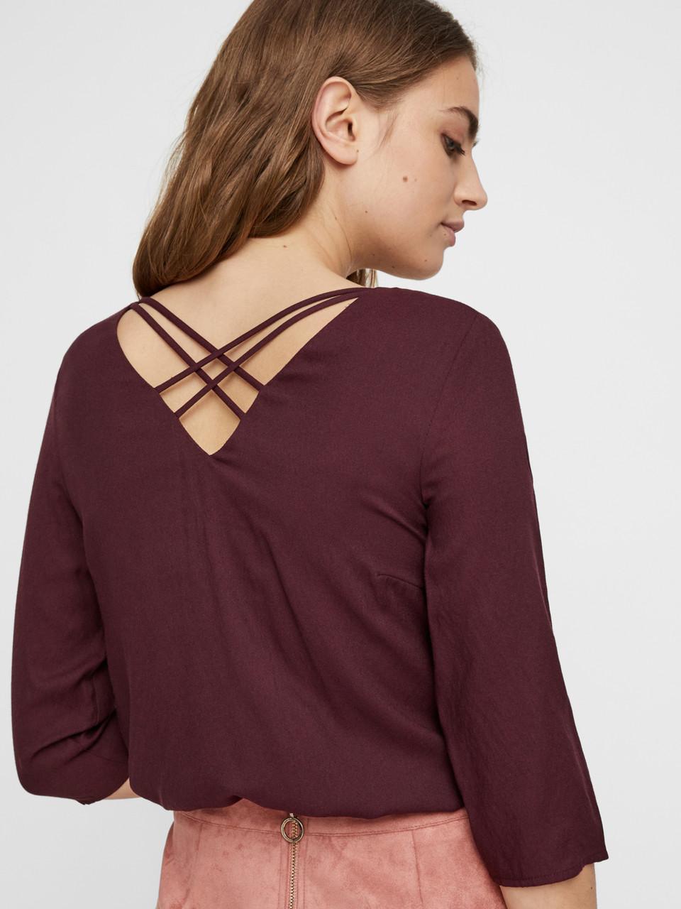 Блузка Vero Moda 10216127 M Бордовый