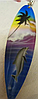 Брелок сувенир ручная работа из АВСТРАЛИИ скейт с дельфином деревянный пальма, фото 2