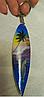 Брелок сувенир ручная работа из АВСТРАЛИИ скейт с дельфином деревянный пальма, фото 3