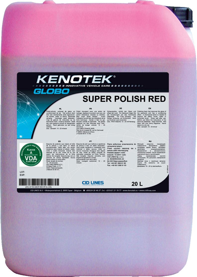 Kenotek Super Polish Red - шампунь-полироль с ароматом вишни
