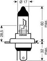 Автолампа H4  галогеновая 60/55W Osram 64193