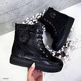 Женские ботинки кожаные Зима 13537, фото 3