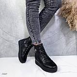 Женские ботинки кожаные Зима 13537, фото 6