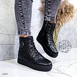 Женские ботинки кожаные Зима 13537, фото 7