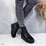 Женские ботинки кожаные Зима 13537, фото 9