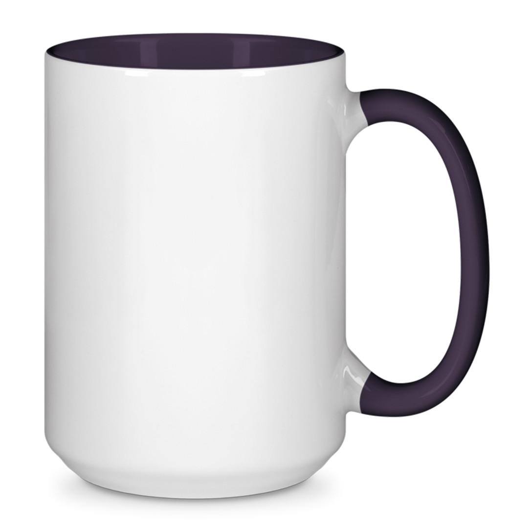 Чашка для сублимации цветная внутри и ручка 425 мл (Фиолетовый)