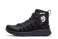 Чоловічі зимові шкіряні черевики Pitbull Black р. 41 45, фото 1