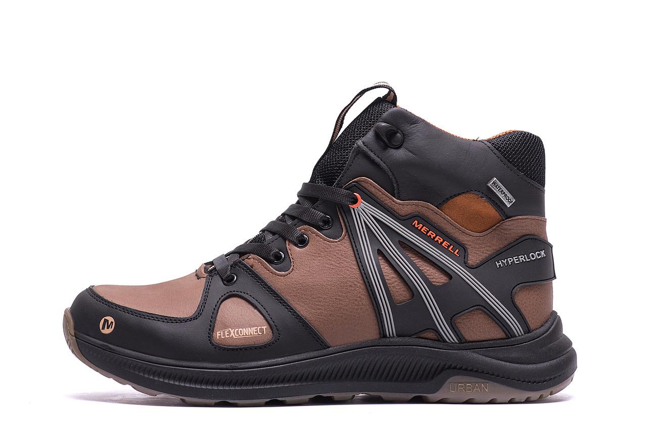 Чоловічі зимові шкіряні черевики MERRELL SLAB Olive р. 40 41 42 43