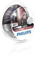 Автолампа H1  галогеновая 55W Philips 12258VP Vision Plus комплект 2 шт.