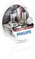 Автолампа H4  галогеновая 60/55W Philips 12342VP Vision Plus комплект 2 шт.
