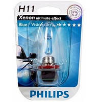Автолампа H11  галогеновая 55W Philips 12362 Blue Vision Ultra B1