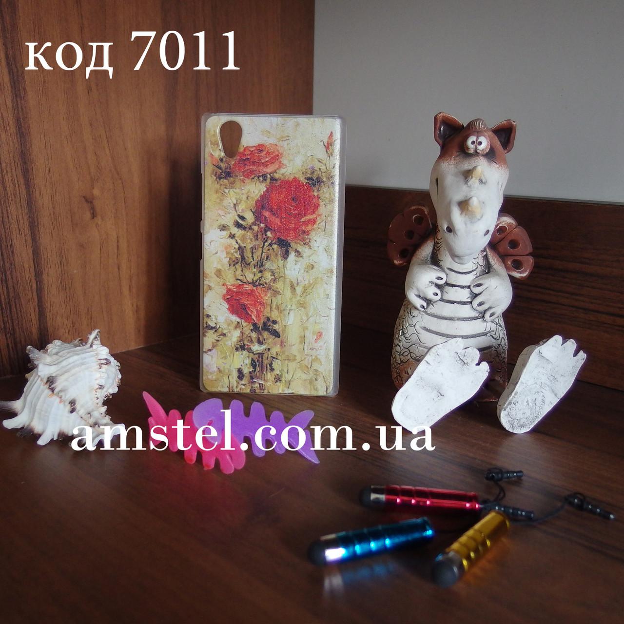 Чехол для lenovo p70 панель накладка с рисунком картина розы