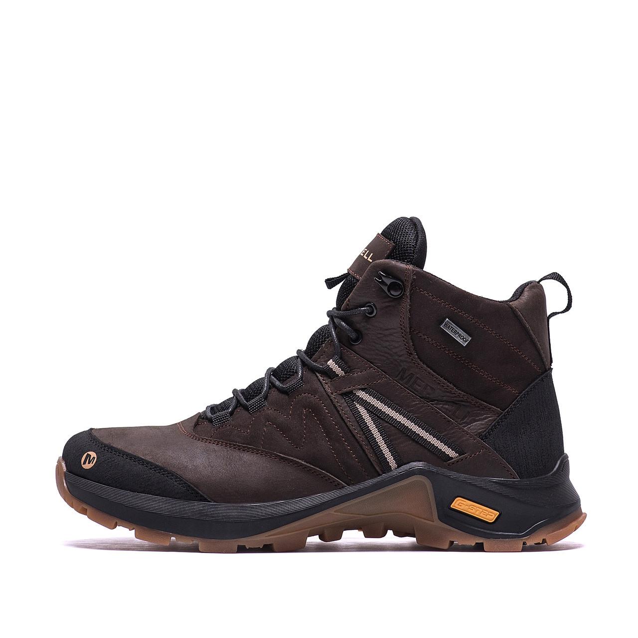 Мужские зимние кожаные ботинки MERRELL Brown р. 40