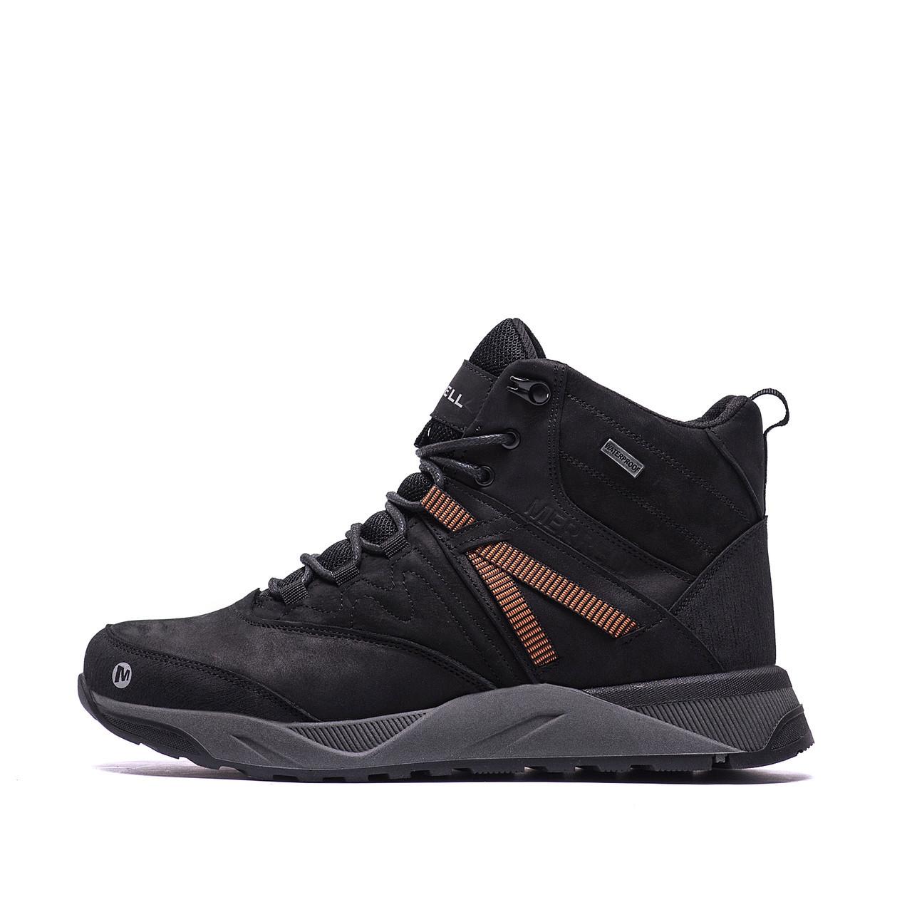 Чоловічі зимові шкіряні черевики MERRELL Black р. 43 44