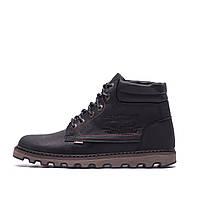 Мужские зимние кожаные ботинки Levis Expensive Black р. 40 41 43, фото 1