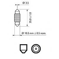 Автолампа 10W Philips 12854CP Vision
