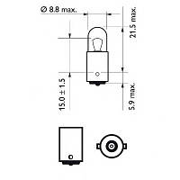 Автолампа T4W  4W Philips 12929CP Vision