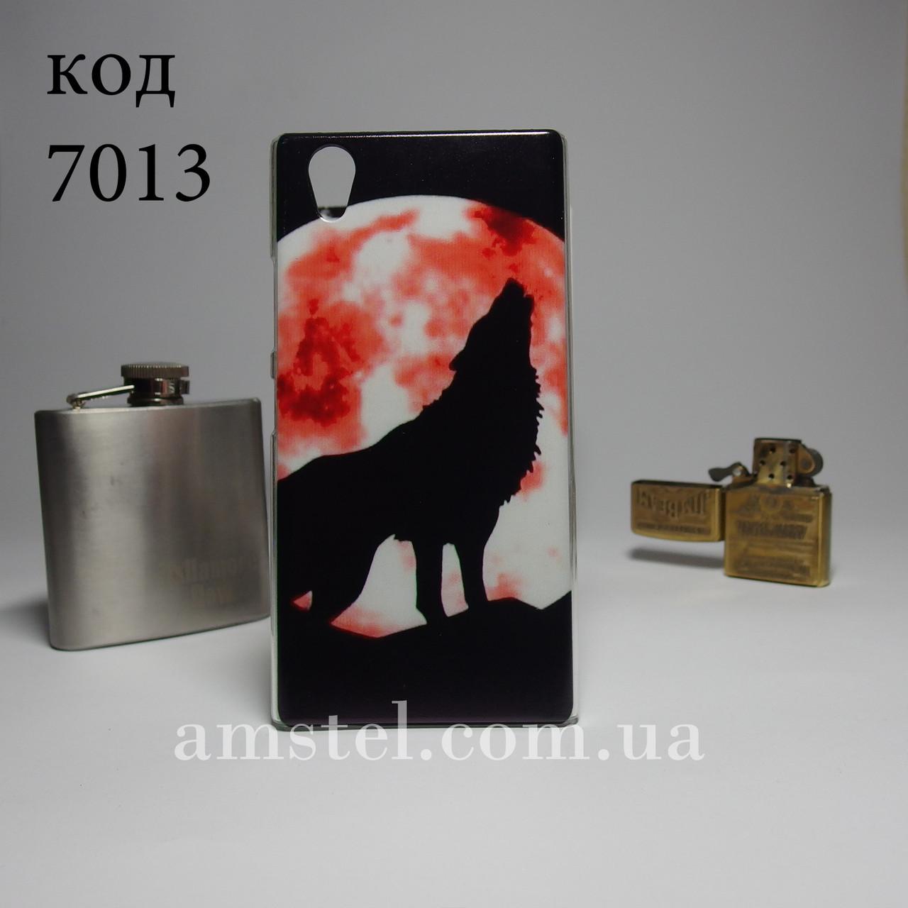 Чехол для lenovo p70 панель накладка с рисунком волк