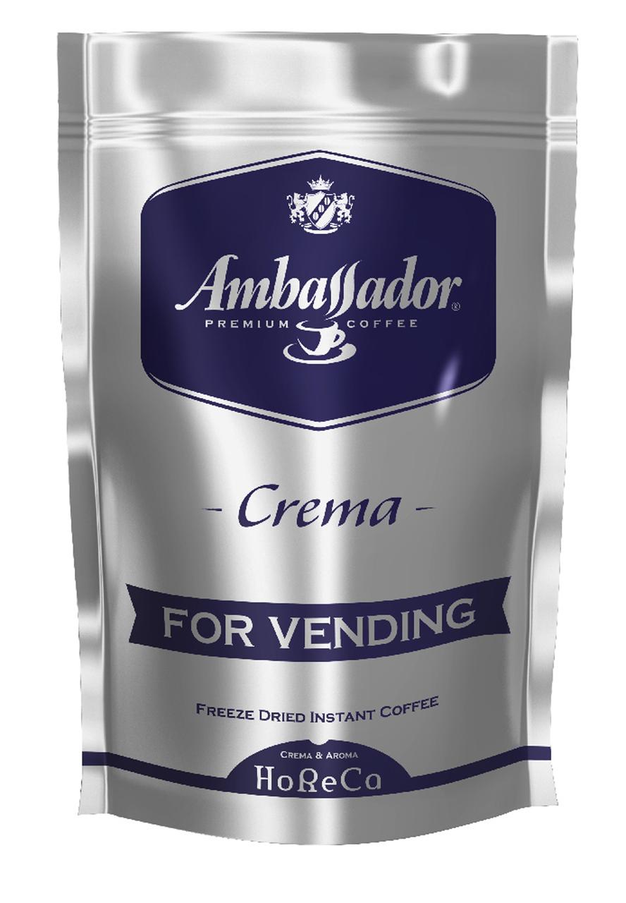 Кофе растворимый для торгових автоматов  Ambassador  Crema, пакет 200г*6 (8718)