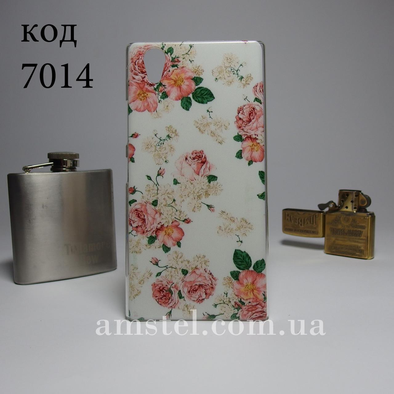 Чехол для lenovo p70 панель накладка с рисунком цветы