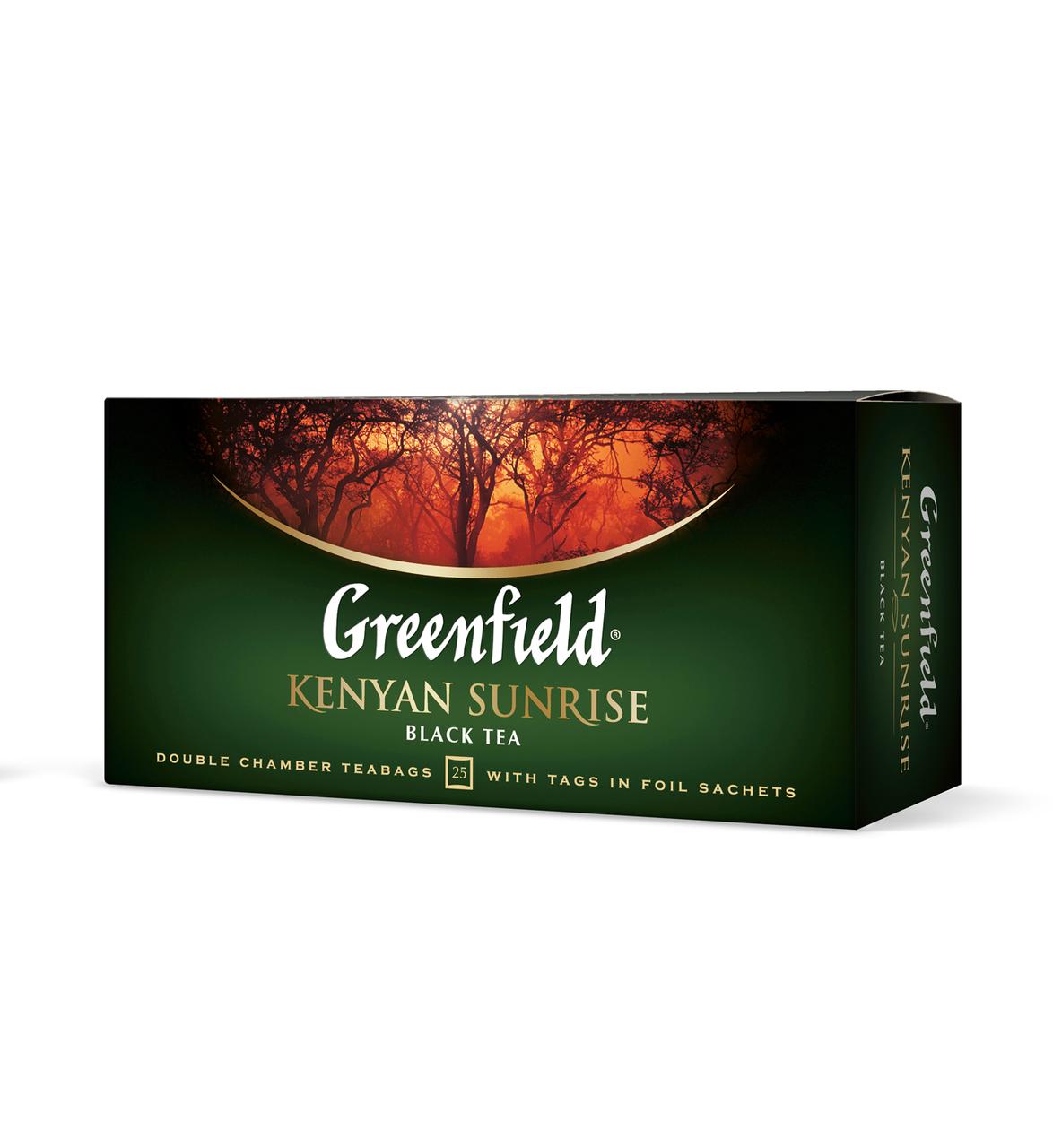 """Чай черный 2г*25*15, пакет, """"Kenyan Sunrise"""", GREENFIELD"""