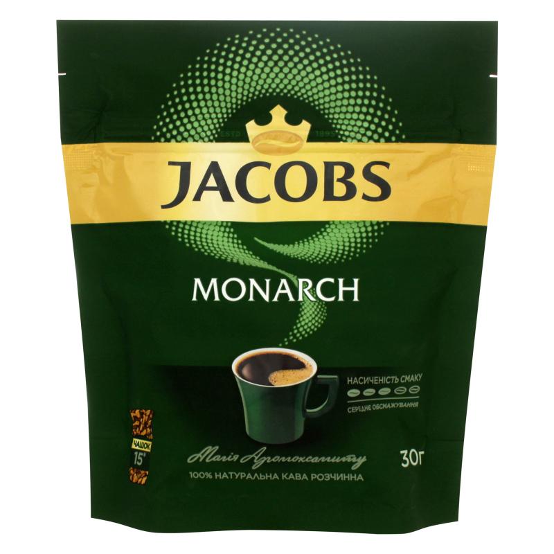Кава розчинна 30 г, пакет, JACOBS MONARCH