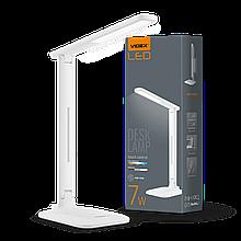 Світильник настільний LED, VL-TF02W, 7W, 3000-5500K, 220V, VIDEX