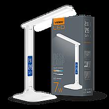 Світильник настiльний LED з індикацією, VL-TF05W, 7W, 3000-5500K, 220V, VIDEX