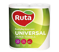 "Полотенца целлюлозные ""Universal"", по 2 рул., на гильзе, 2-х сл., белый RUTA"