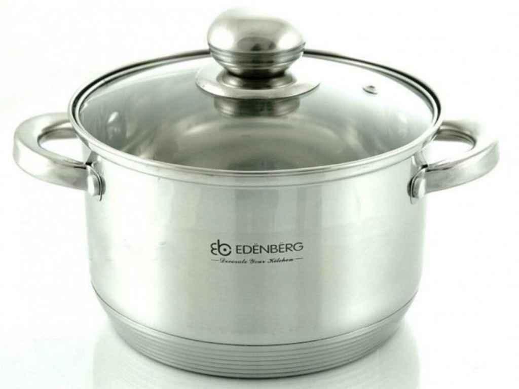 Кастрюля Edenberg нержавеющая 1.3 литра (14*8.5 см) EB-3002