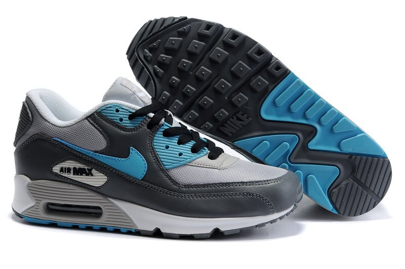 b1bfe1da8108 Кроссовки Мужские Nike Air Max 90 (в Стиле Найк Аир Макс 90) Серые ...