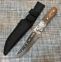 Охотничий нож Лев Н-5180 25.5см с чехлом коричневый (2_009665)