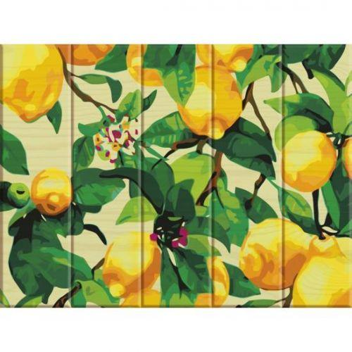 "Картина по номерам на дереве ""Лимонное дерево"" ASW011"