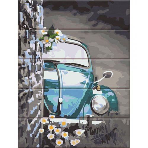 "Картина по номерам на дереве ""Ретро авто"" ASW124"