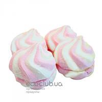Зефир бело-розовый натуральный Солодка Мрія