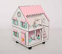 Кукольный домик NestWood Сказочный двухсторонний с подставкой для ЛОЛ без мебели (kdl009p)