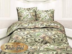 Двуспальный комплект постельного белья евро 200*220 хлопок  (6466) TM KRISPOL Украина