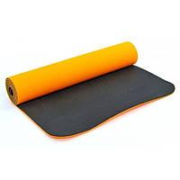 Коврик для фитнеса (йога мат ) 2-х слойный 6мм