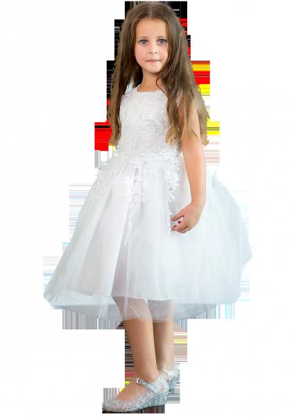 Шикарное белое  детское платье с пышной юбкой на 2-3 года
