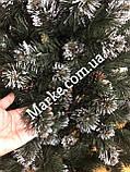 Елка 1,8 м искусственная из ПВХ с белыми кончиками и шишками Лидия ( ялинка ), фото 8